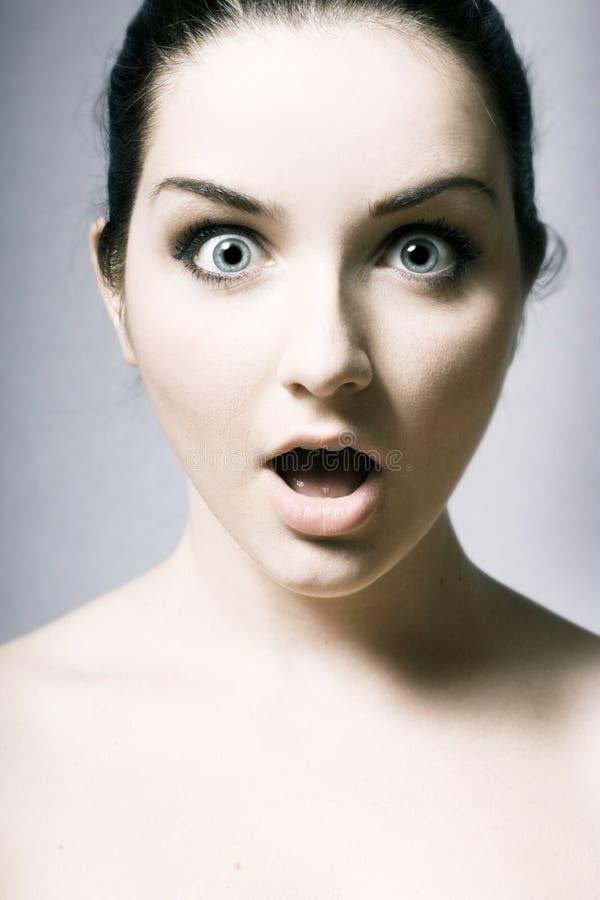Femme choqué image libre de droits