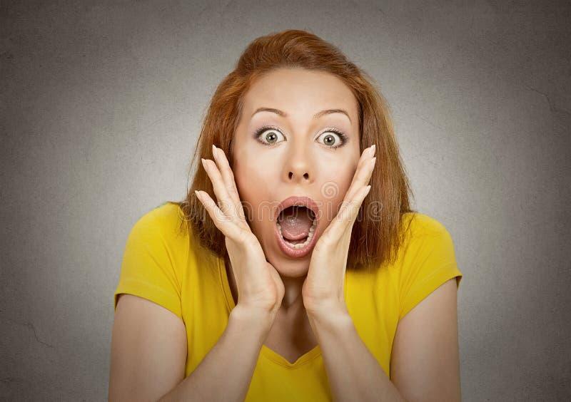 Femme choquée photographie stock
