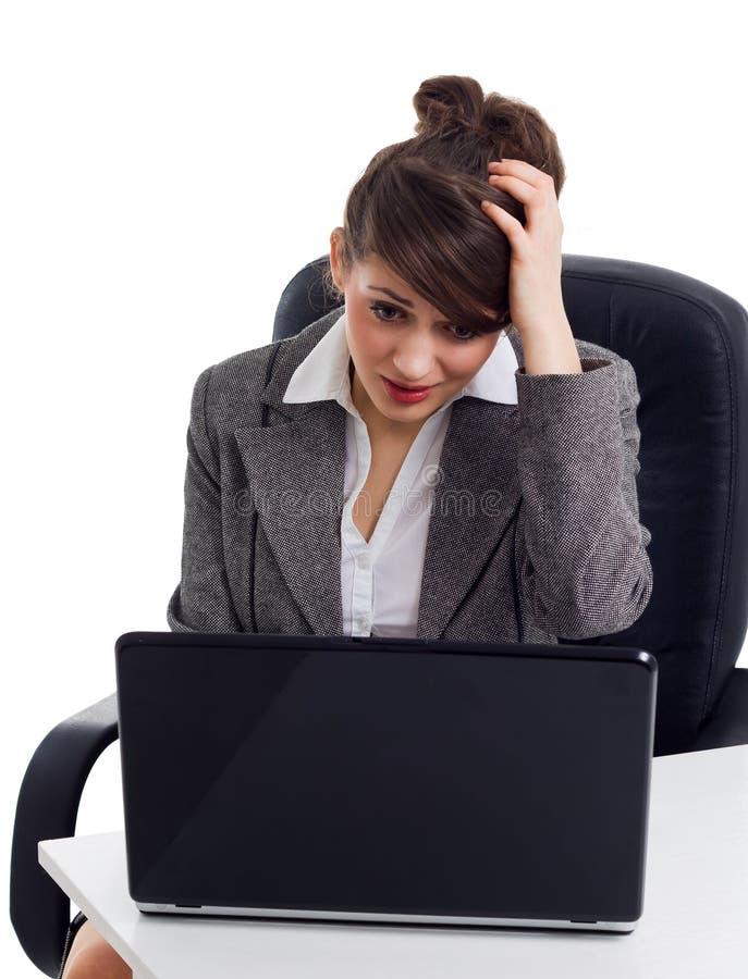 Femme choquée d'affaires photo libre de droits
