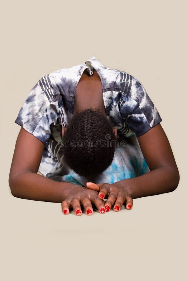 Femme chrétienne africaine photo libre de droits