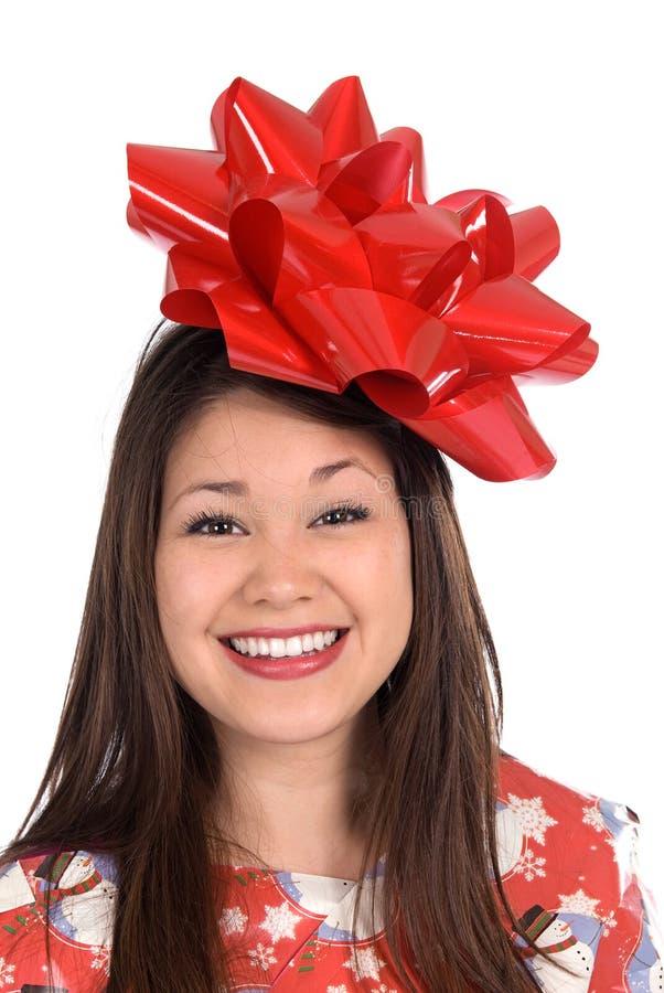 Femme comme cadeau de Noël images libres de droits