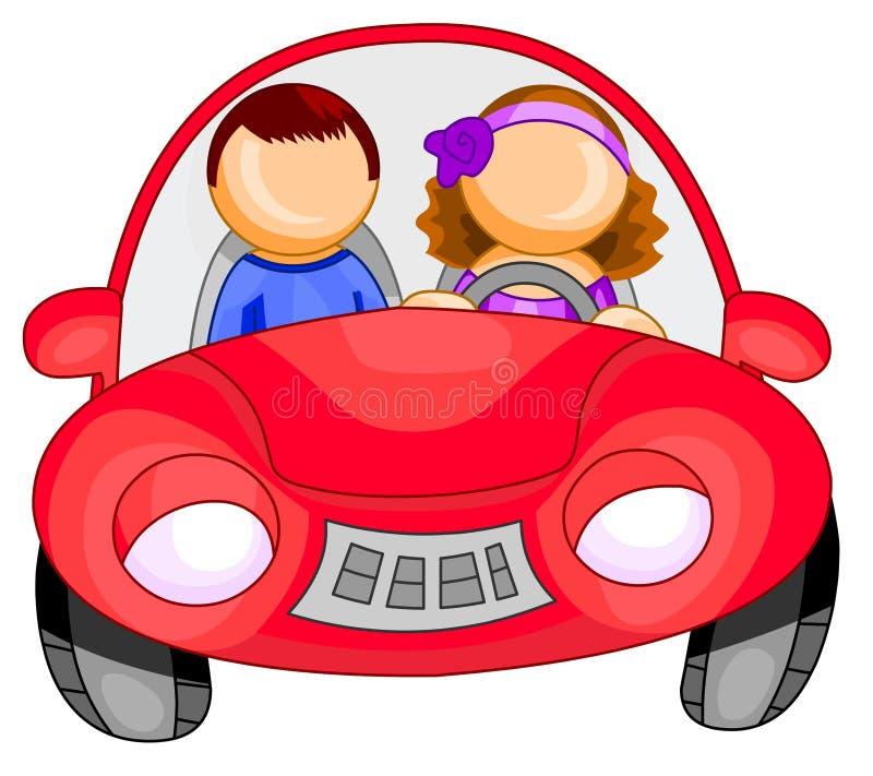 Femme conduisant un véhicule illustration libre de droits