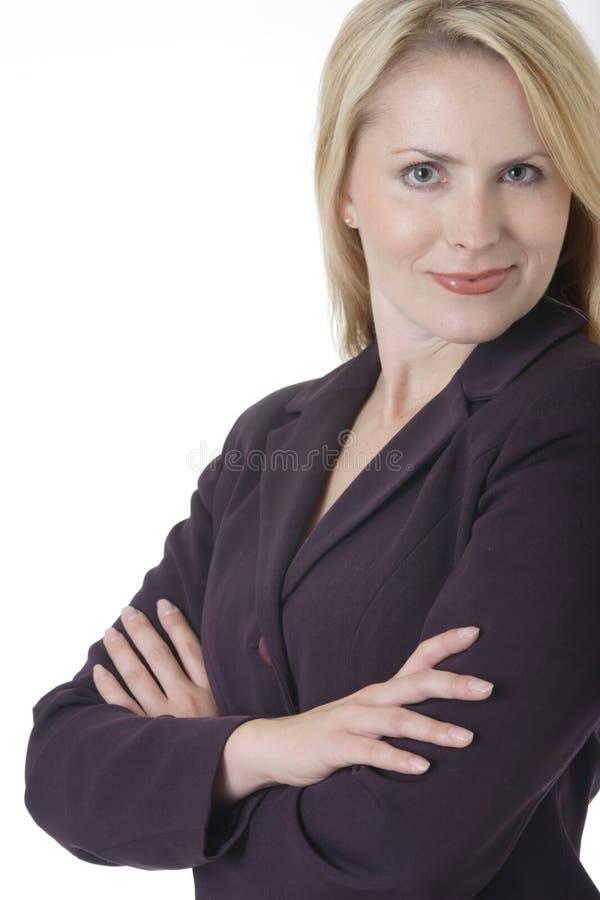 Femme confiante d'affaires images stock