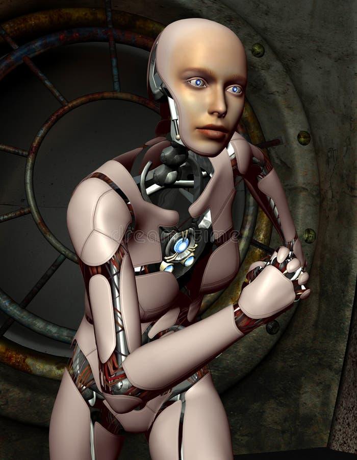 Femme courante de robots illustration stock