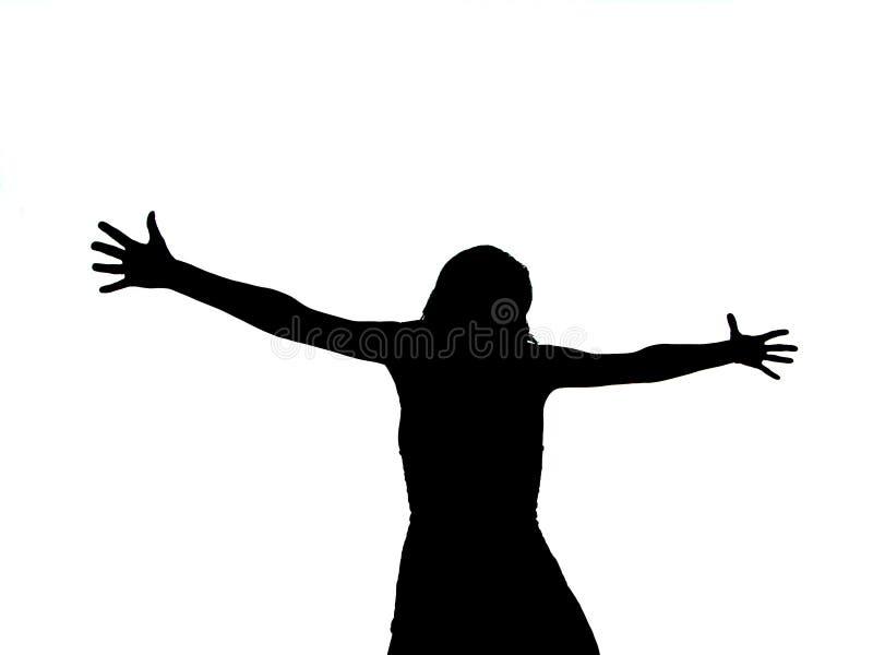 Femme crucifié illustration stock