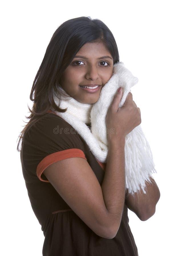 Femme d'écharpe photographie stock