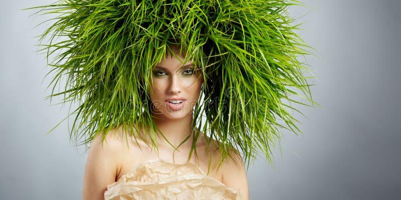 Femme d'écologie, concept vert image libre de droits