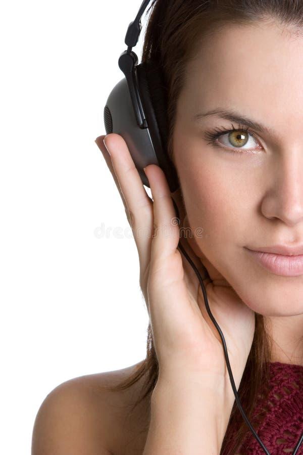 femme d'écouteurs photos stock