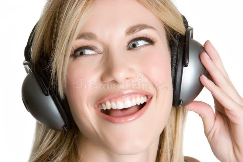 femme d'écouteurs photo libre de droits