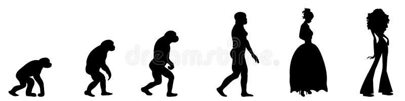 Femme d'évolution illustration de vecteur