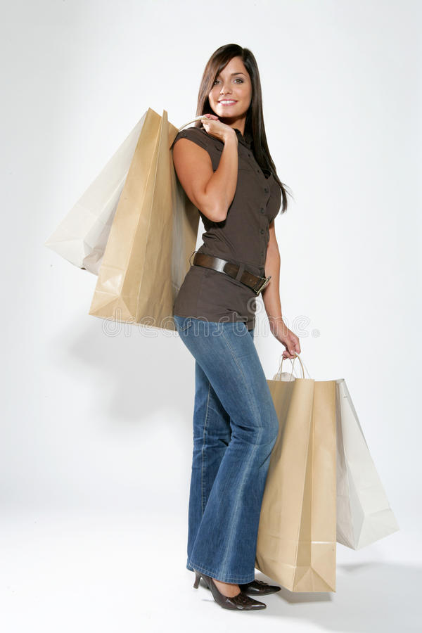 Femme d'achats photographie stock