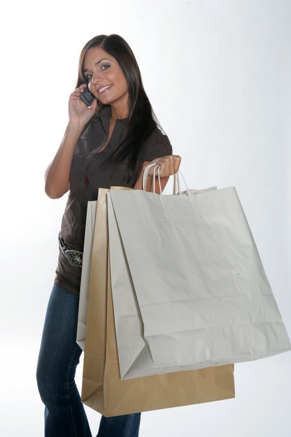 Femme d'achats. photo libre de droits