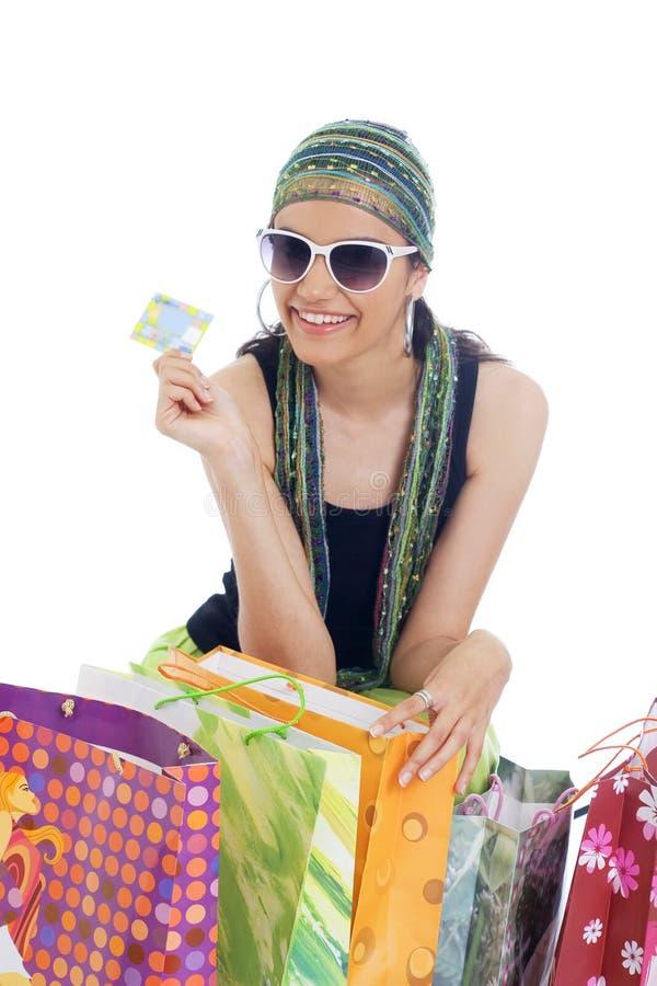 femme d'achats photo stock