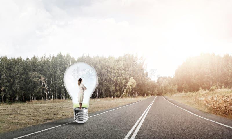 Download Femme D'affaires à L'intérieur D'ampoule Image stock - Image du lampe, affaires: 77152495