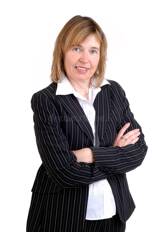 Femme d'affaires âgée moyenne photographie stock