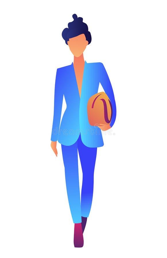 Femme d'affaires élégante portant une illustration de vecteur de costume illustration libre de droits