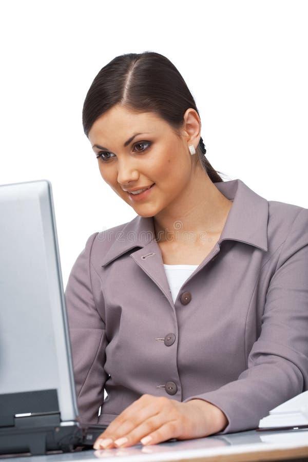 Femme d'affaires étonnée photographie stock libre de droits