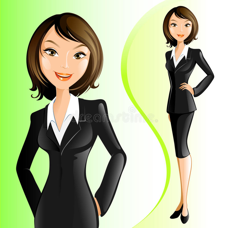 Femme d'affaires illustration libre de droits