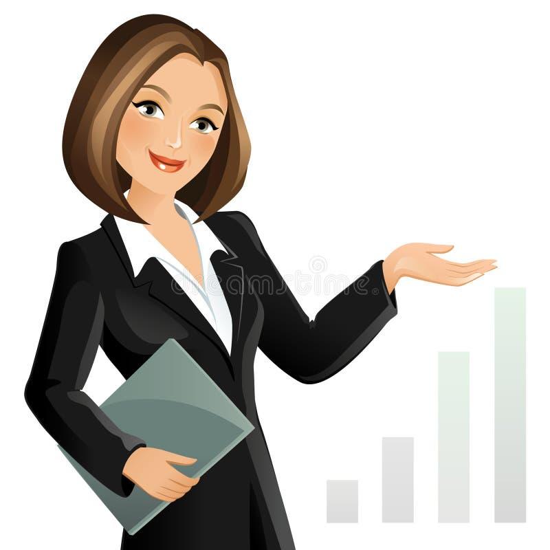 Femme d'affaires illustration libre de droits