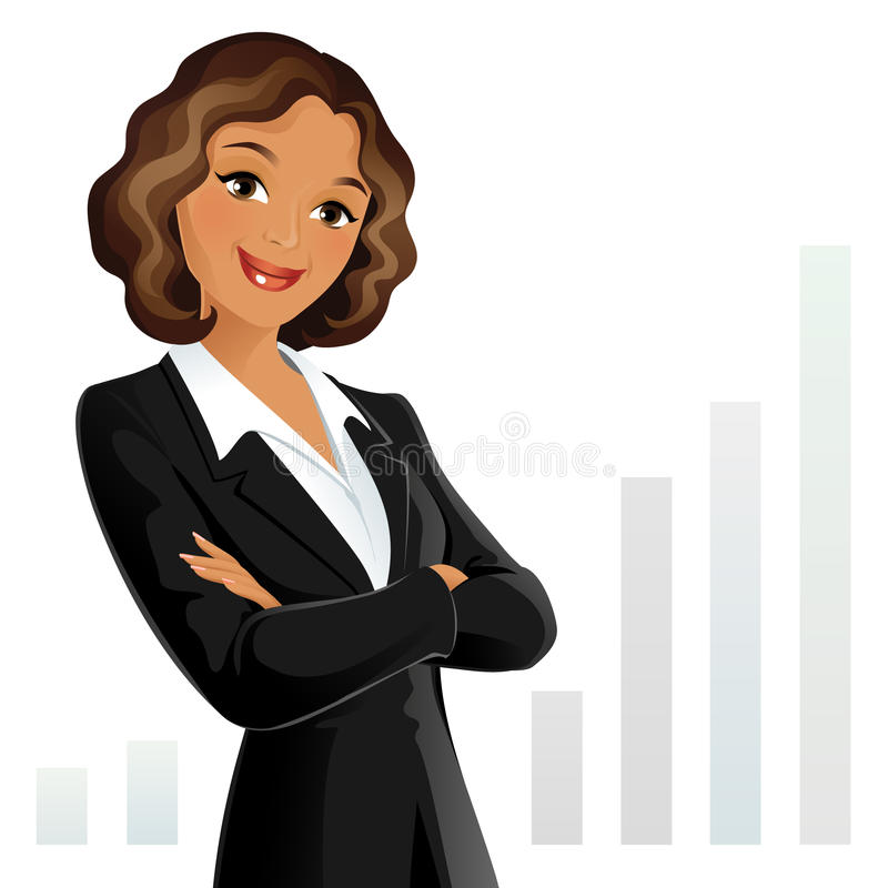 Femme d'affaires illustration stock