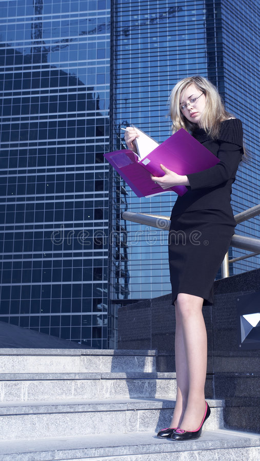Download Femme d'affaires photo stock. Image du fille, collègue - 744766