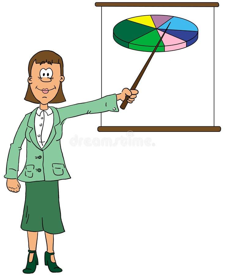 Download Femme d'affaires illustration stock. Illustration du diagramme - 90019