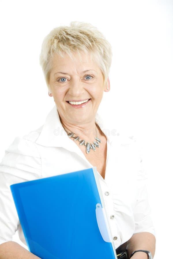 Femme d'affaires aînée photographie stock