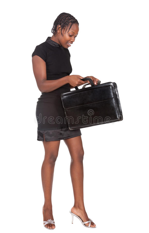 femme d'affaires africaine photo stock