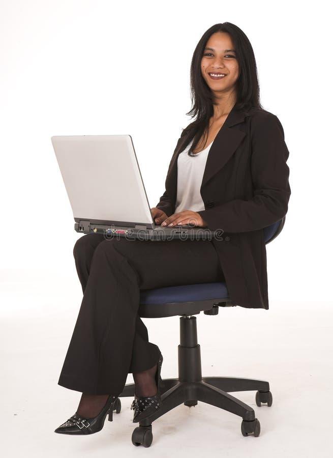 Femme d'affaires africaine photo stock