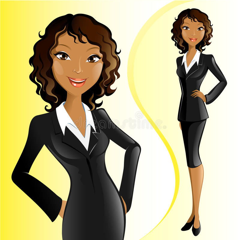 Femme d'affaires (africaine) illustration stock