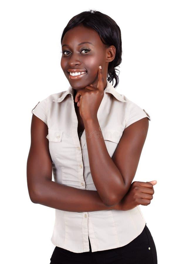 Femme d'affaires africaine d'Amercian images libres de droits
