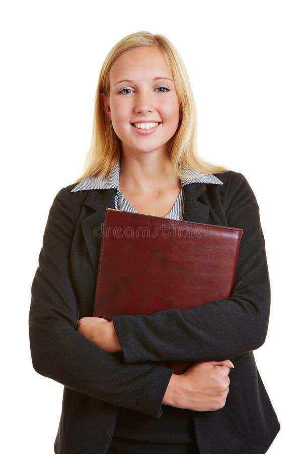 Femme d'affaires allant à l'entrevue d'emploi photographie stock