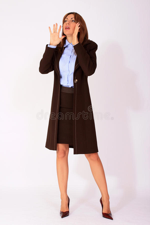 Femme d'affaires appelle images stock