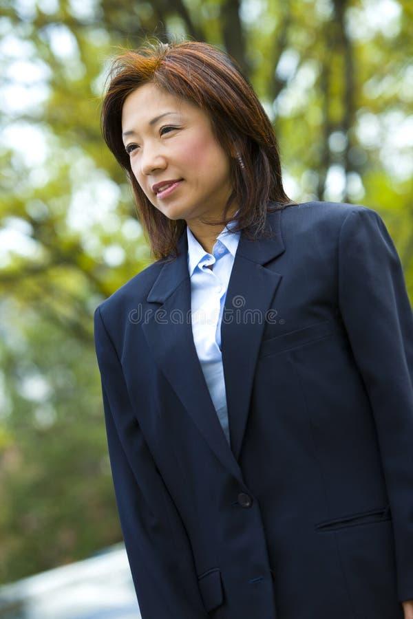 Femme d'affaires asiatique   image stock