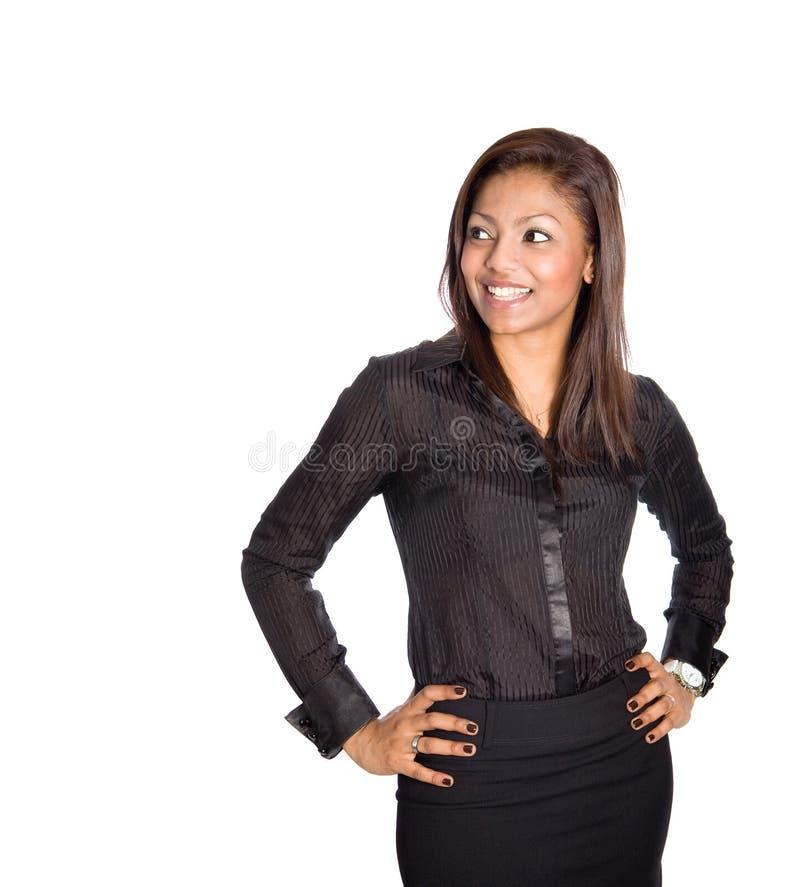 Femme d'affaires asiatique heureuse et confiante. photographie stock libre de droits
