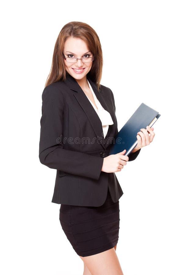 Femme d'affaires attirante de brune. image libre de droits