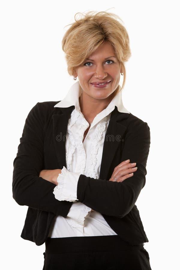 Femme d'affaires attirante de Caucasien d'années '30 image stock