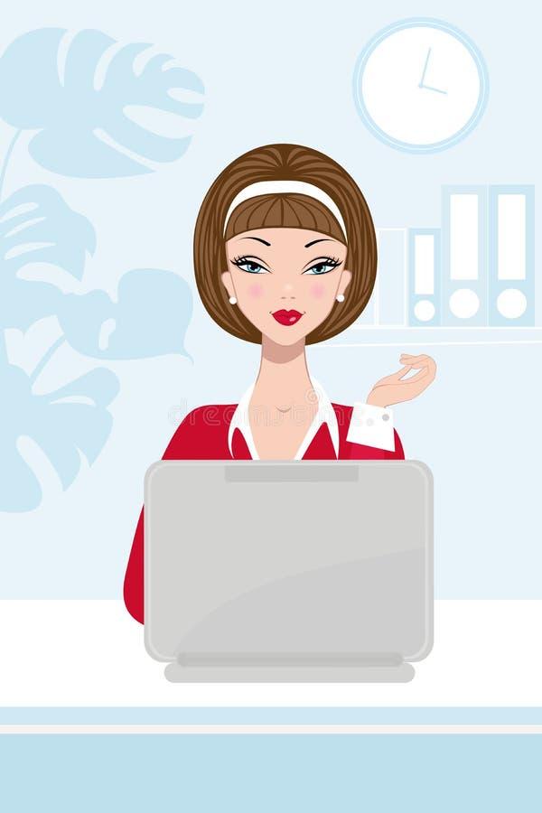 Femme d'affaires au travail illustration libre de droits