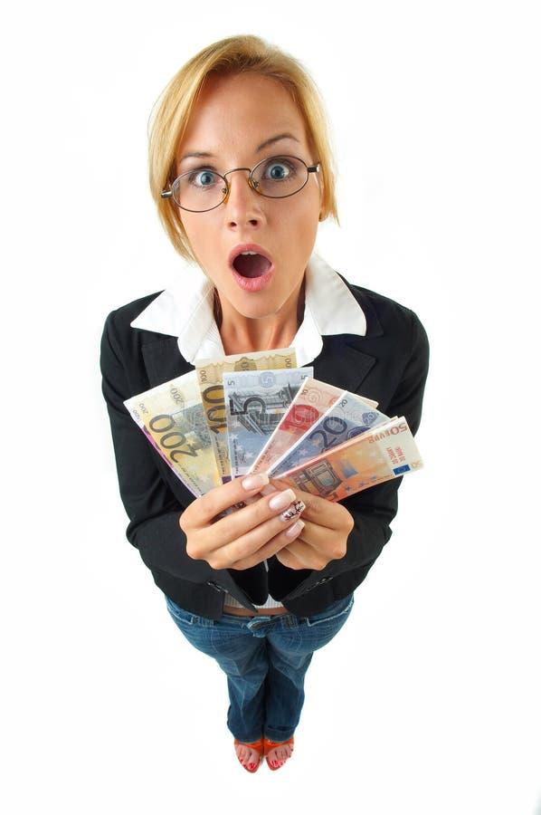 Femme d'affaires avec de l'argent photo libre de droits