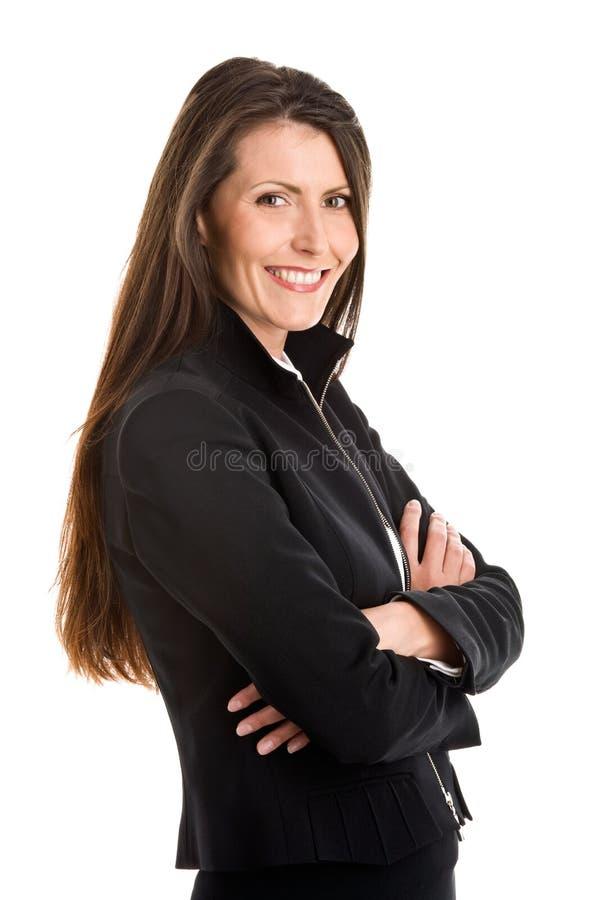 Femme d'affaires avec des bras croisés images libres de droits