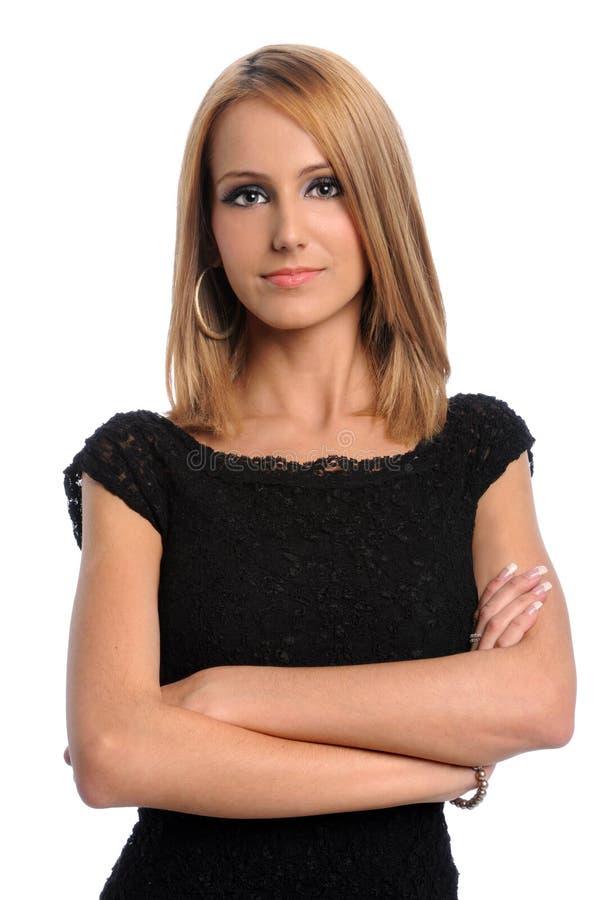 Femme d'affaires avec des bras croisés image libre de droits