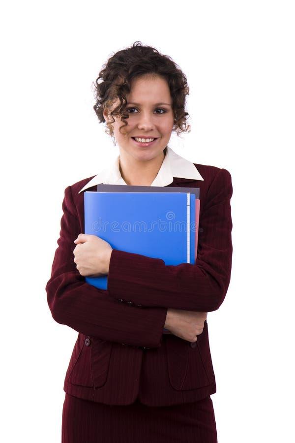Femme d'affaires avec des fichiers. images libres de droits