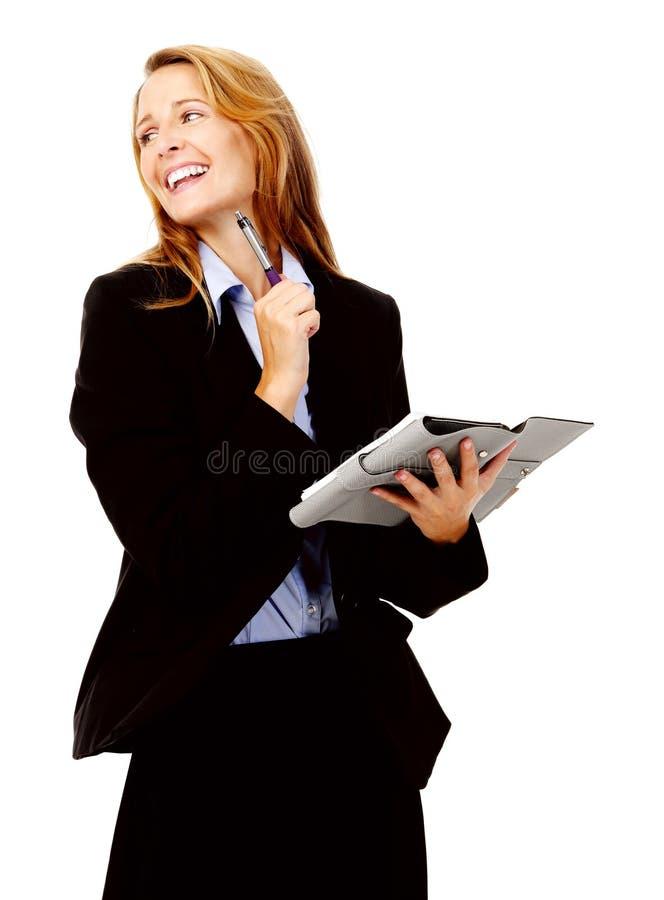 Femme d'affaires avec l'organisateur photo libre de droits