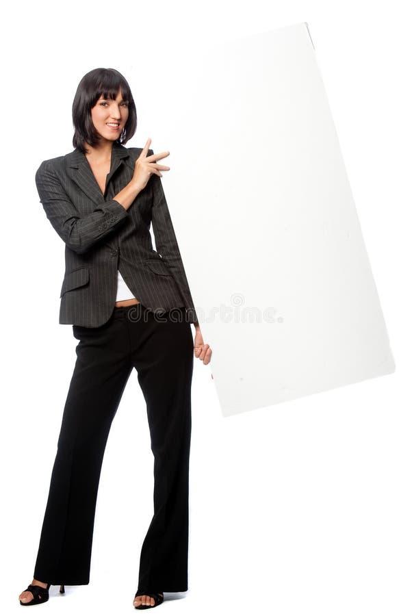 Femme d'affaires avec la carte photographie stock libre de droits