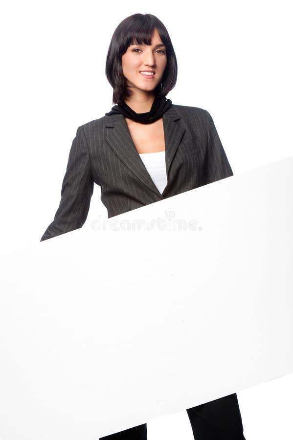 Femme d'affaires avec la carte images stock