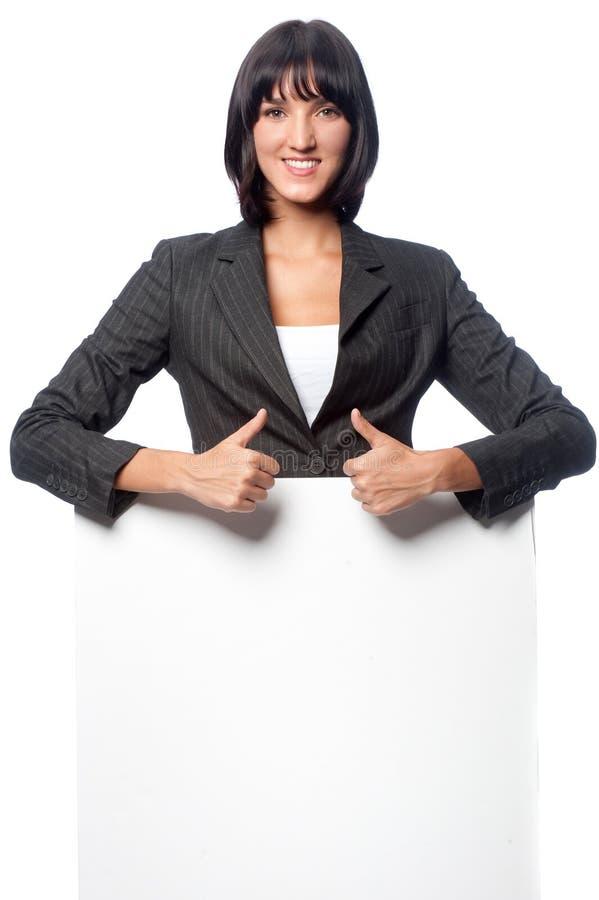 Femme d'affaires avec la carte photographie stock