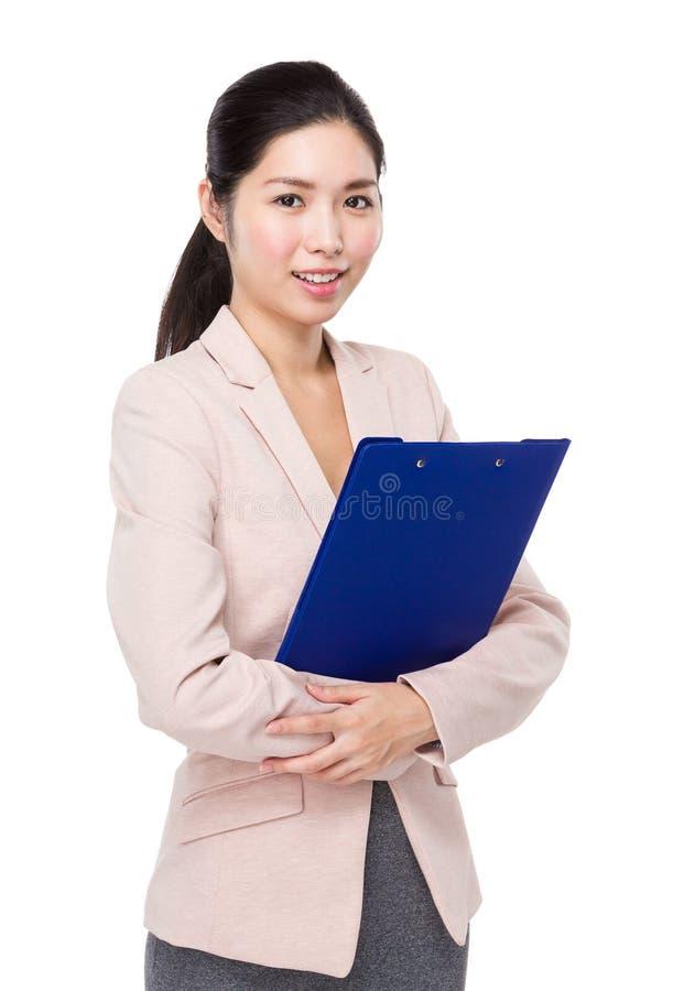 Download Femme D'affaires Avec La Planchette Image stock - Image du écritures, corporate: 45365673