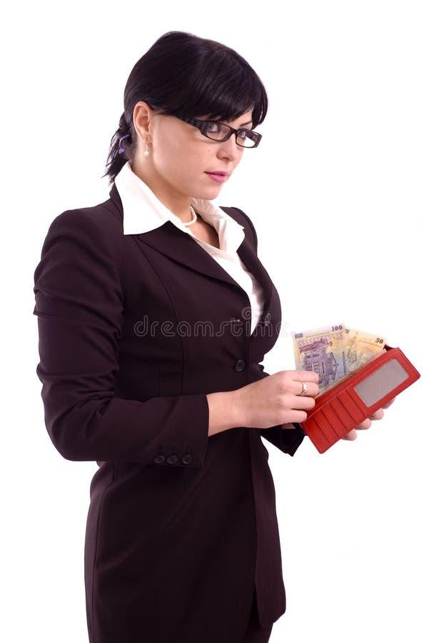 Femme d'affaires avec la pochette photo libre de droits