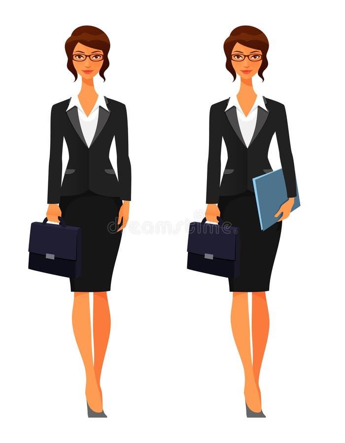 Femme d'affaires avec la serviette illustration de vecteur