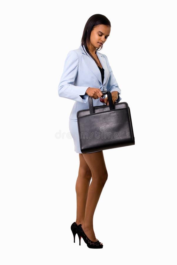 Femme d'affaires avec la serviette image libre de droits